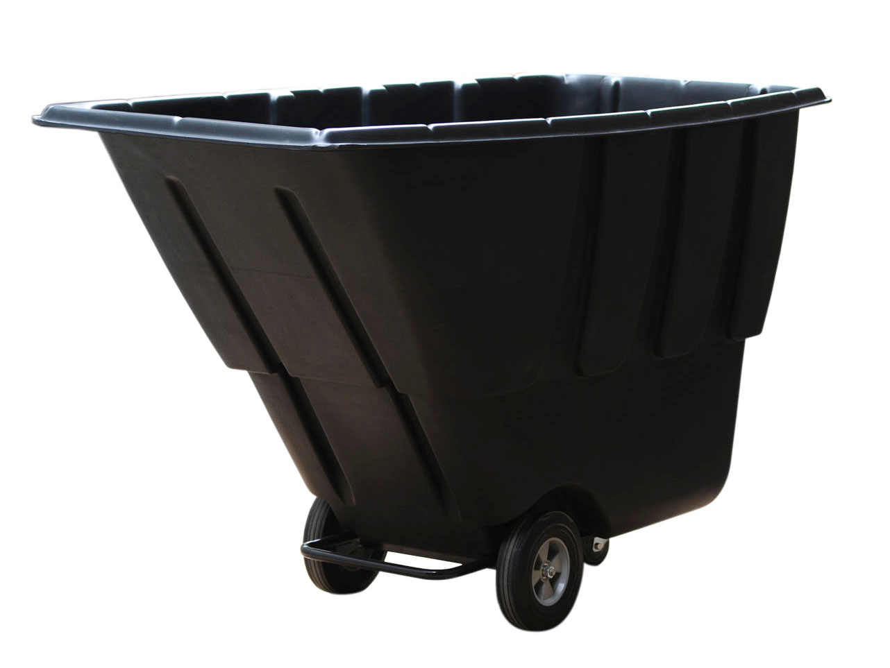Utility tilt trash cart